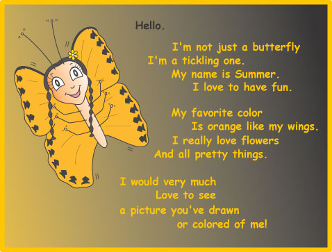 summer the orange butterfly